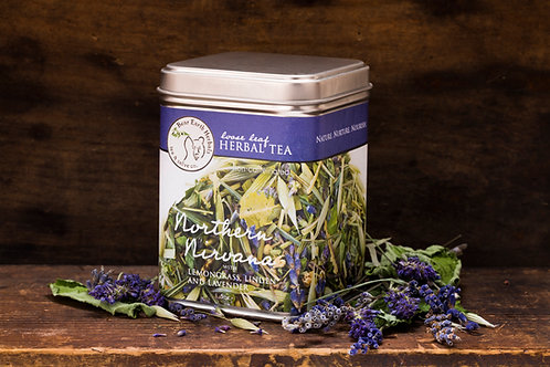 Northern Nirvana nerve calming Herbal Tea with Lemongrass, Lavender and Linden