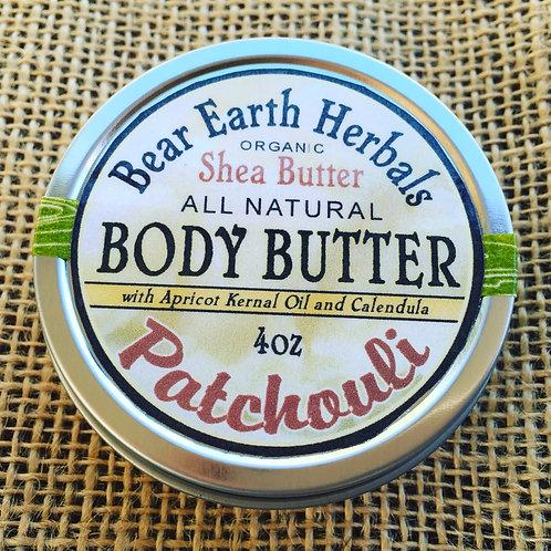 Patchouli Body Butter - Fair Trade Organic Shea Butter with Calendula & Apricot