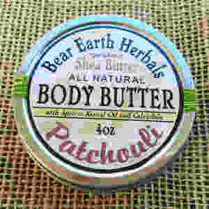 Patchouli Body Butter Organic Fair Trade Shea Butter