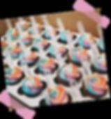 Custom Rainbow Cupcakes