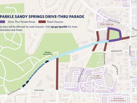 Sparkle Sandy Springs Road Closures and Map