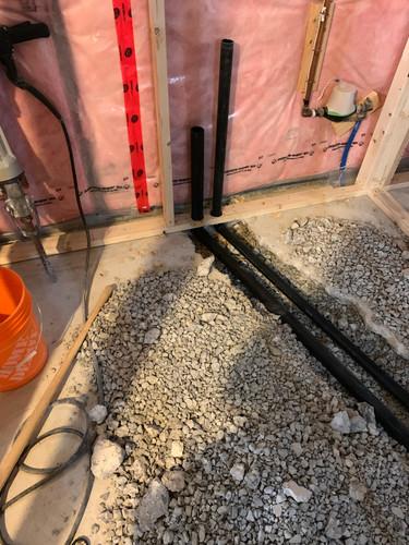 Bathroom plumbing for basement