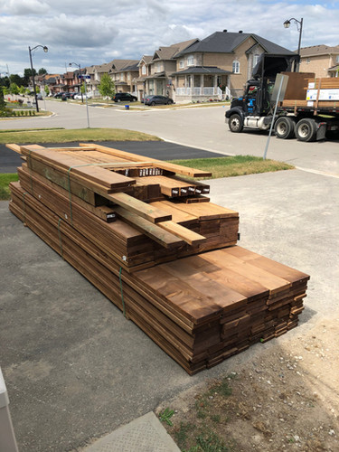 delivery of wood for deck project