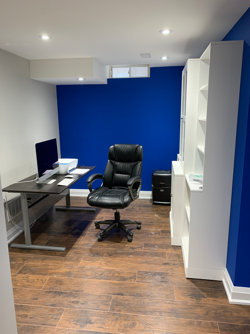 Finished Office area with furniture
