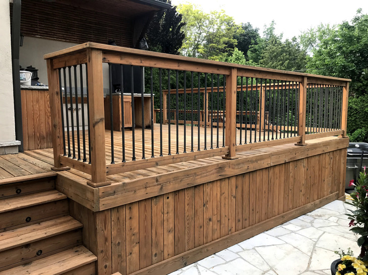 Sanded and Stained Deck