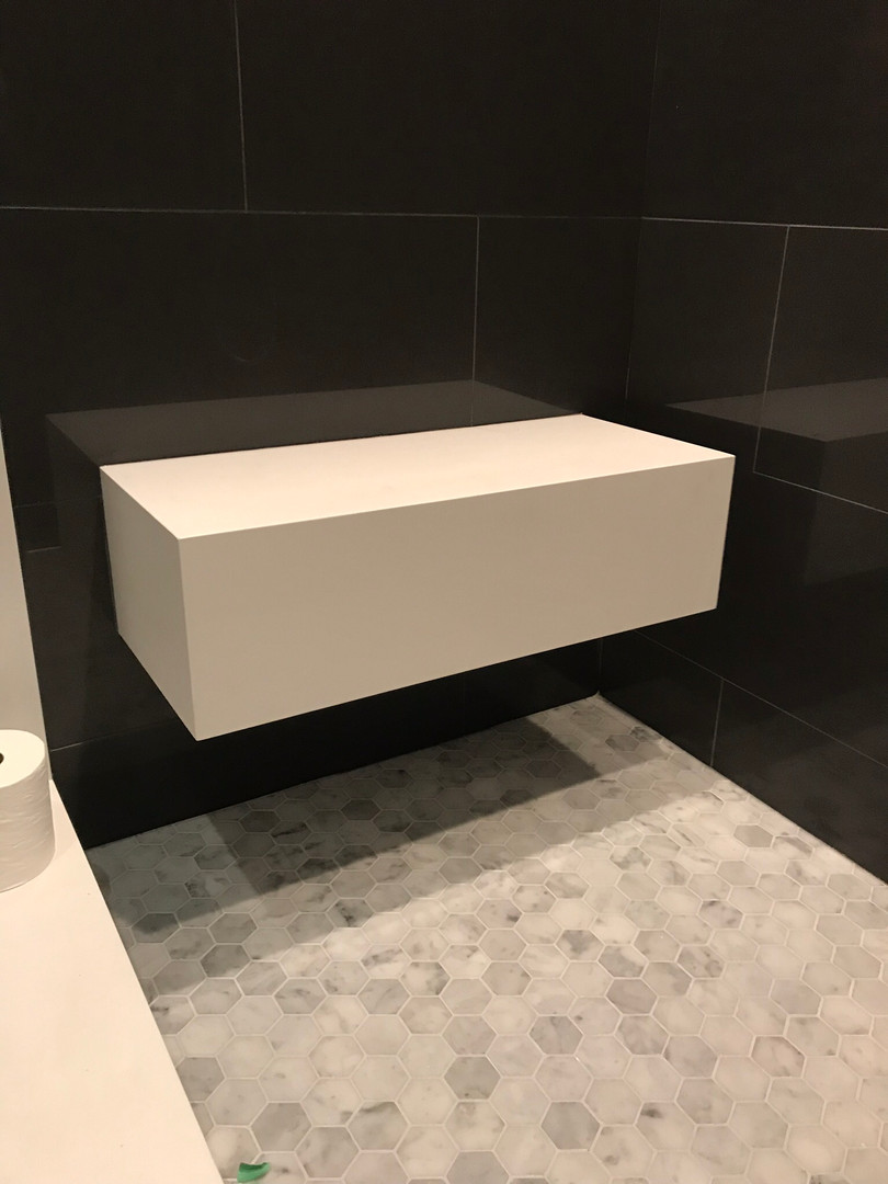 Floating shower bench