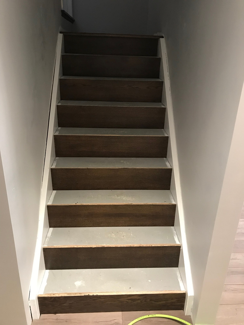 Basement Stairway - risers complete