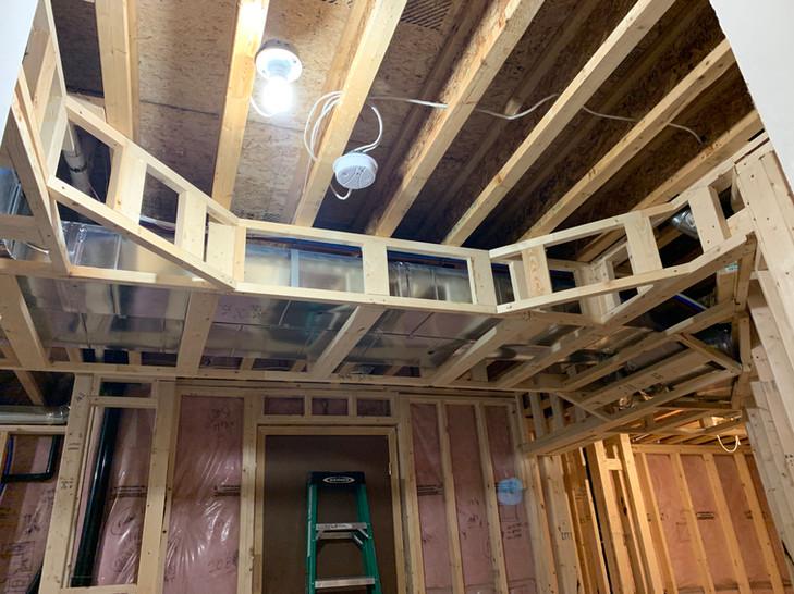 Bulkhead framing for basement