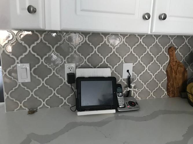 Kitchen backsplash and countertop
