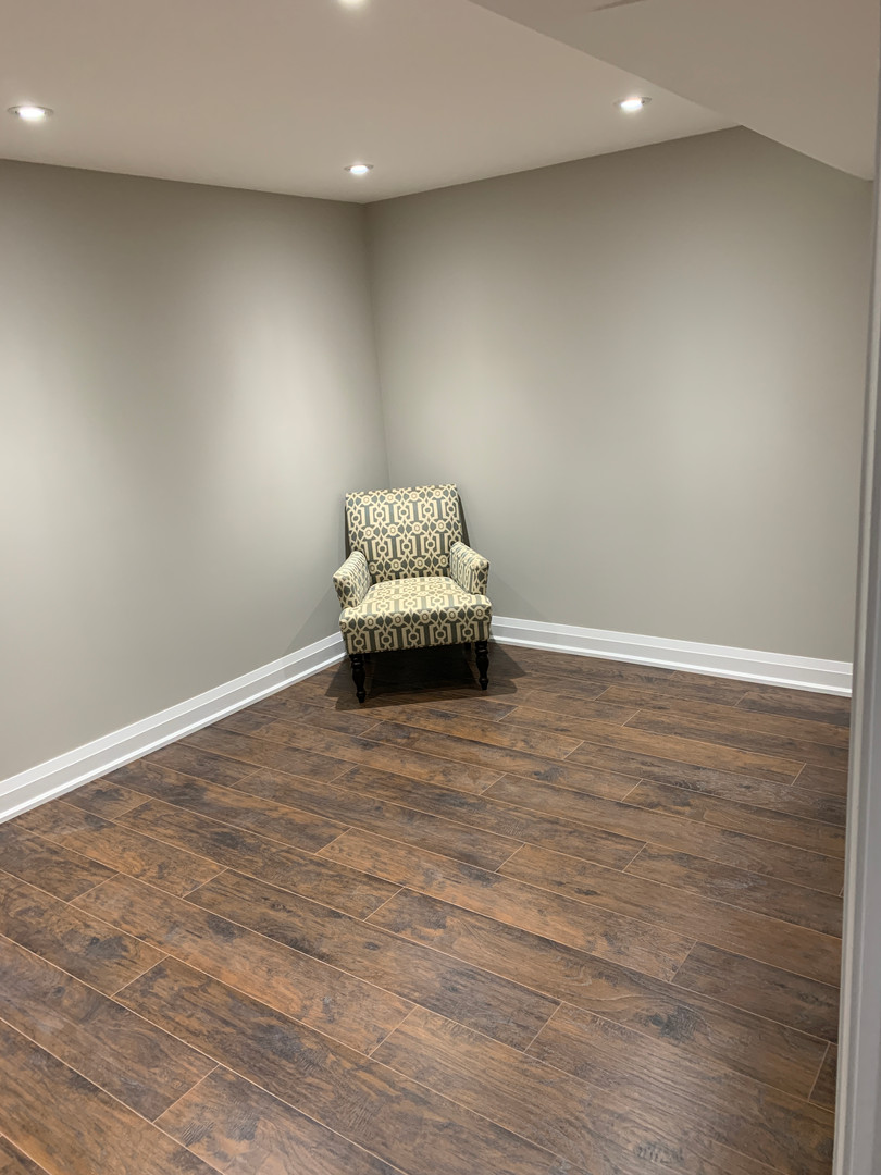 Finished basement room