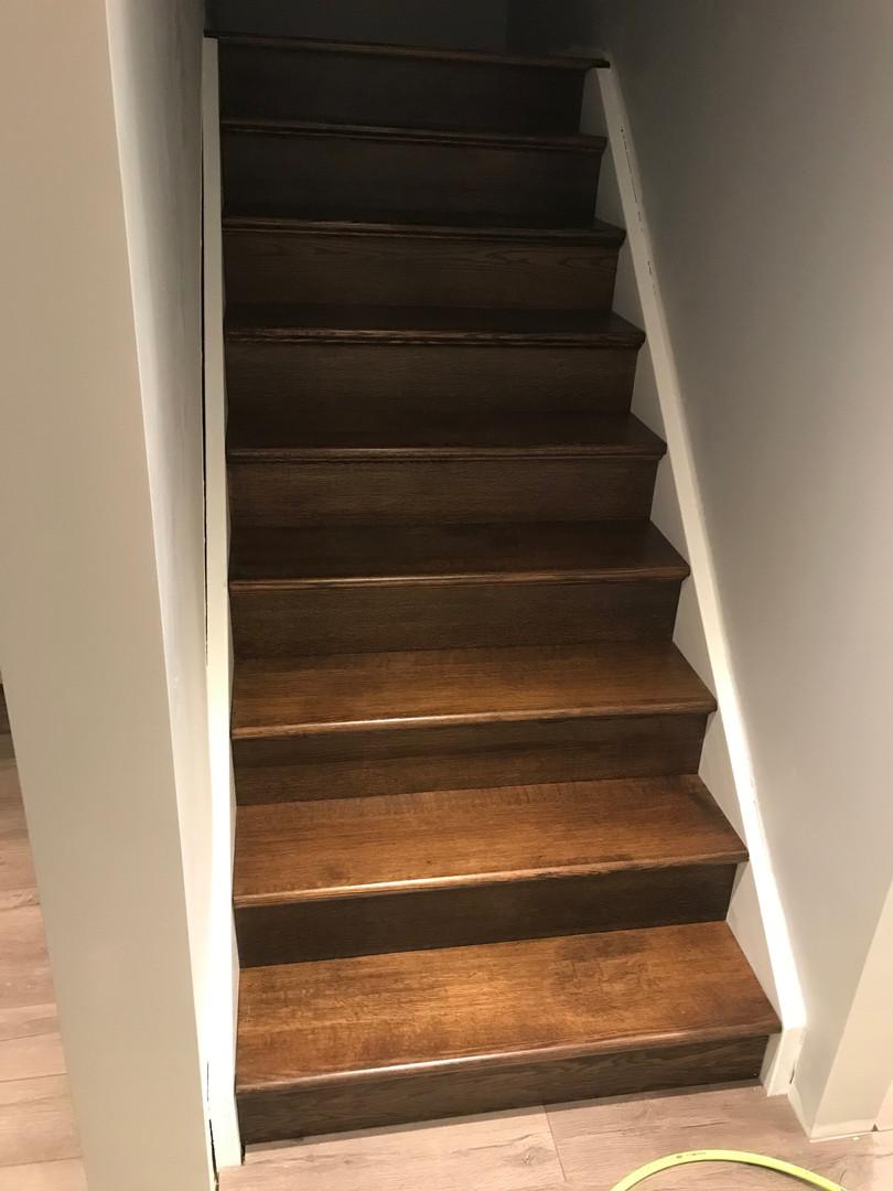 Basement stairway complete