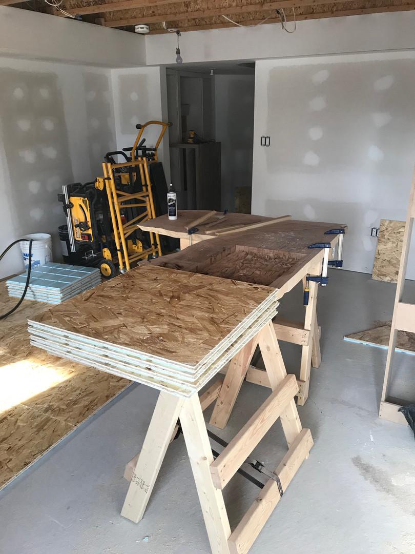 Prep for sub floor installation