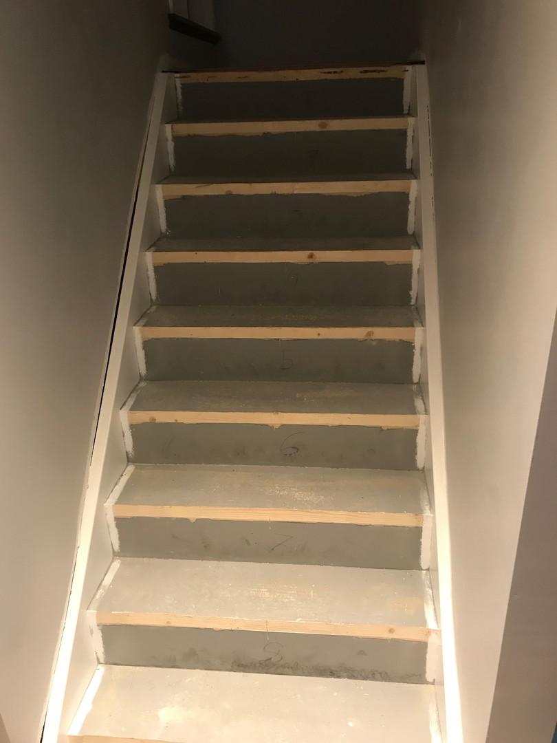 Stairway - before hardwood