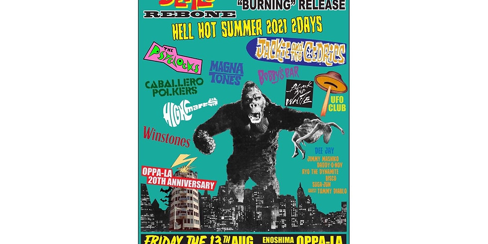 """Back From The Grave Presents The Go-Devils Rebone & Stompin' Riffraffs """"Burning"""" Release Special 2Days Party!!  day1"""