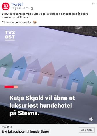 Fredag d.12.07.2019 var TV2 Øst en tur forbi Vandrigsgaard Hundehotel