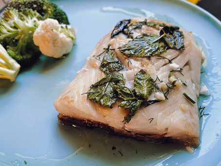 Grilled Sablefish Dressed with Herb Oil