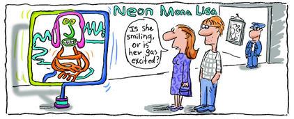 Neon Mona Lisa