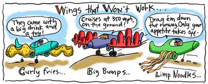 Wings that Won't Work