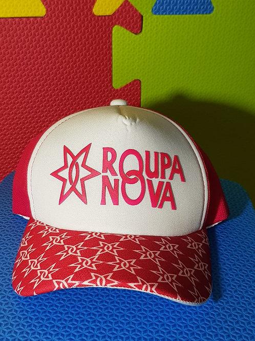 Boné  Roupa Nova Rosa com aba Estrela