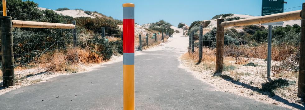 Steel bollard Hillary's beach.jpg