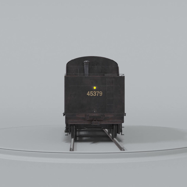 Coal Car Turntable - Clay