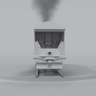 Locomotive Turntable - Clay