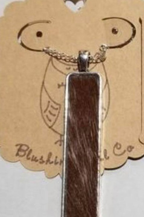 Hair on Cowhide Necklace