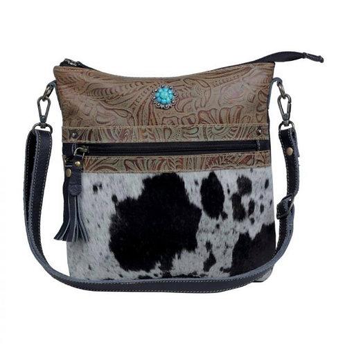 Myra Bag Dusky Black Leather & Hair