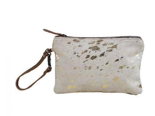 Myra Bag Golden Snow Hairon Pouch