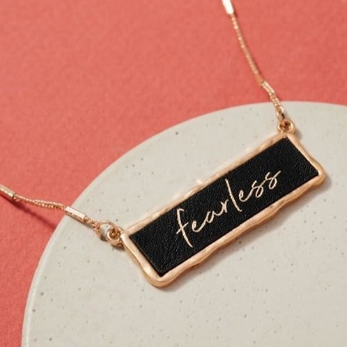 """""""Fearless"""" Inspirational Charm Necklace"""