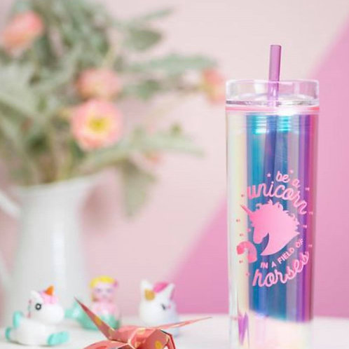 Holographic Unicorn Tumbler - Be a Unicorn in a Field of Horses