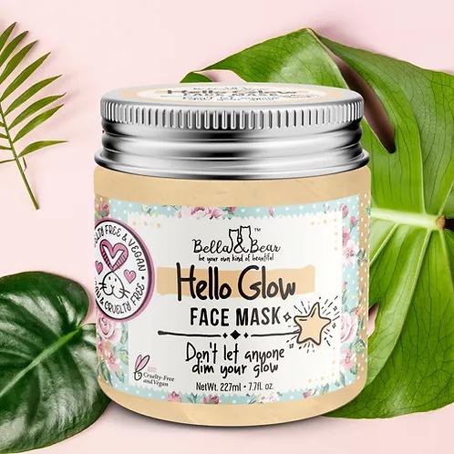 Bella & Bear Hello Glow Face Mask for Brightening & Tightening 6.7oz