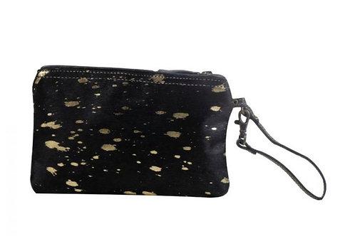 Myra Bag Golden Speckled Hairon Pouch