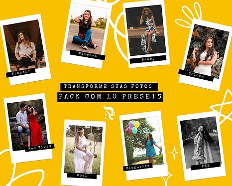Pack com15 presets para edição de fotos