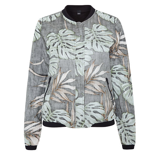 Reversible ALOHA Jacket for Women with Hawaiian Print/black
