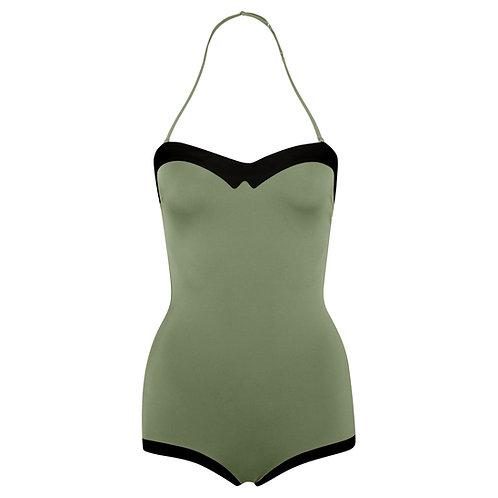 TEODORA swimsuit moss-green/black