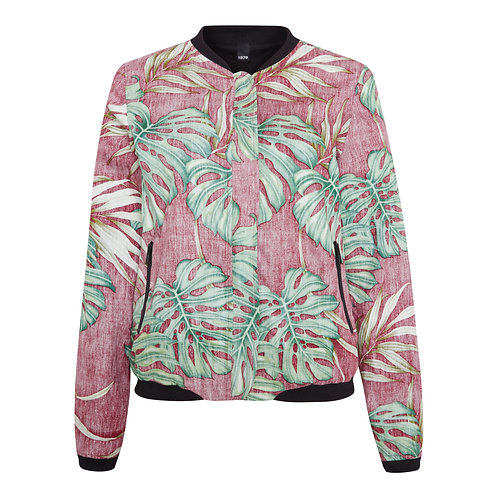 Reversible ALOHA Jacket for Women with Hawaiian Print red
