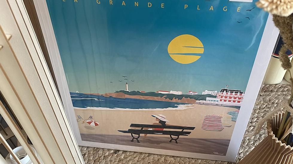 Affiche Biarritz Grande Plage