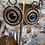 Thumbnail: Boucles d'oreilles Kaly noires