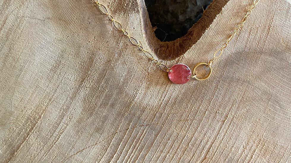 Collier perle et cercle
