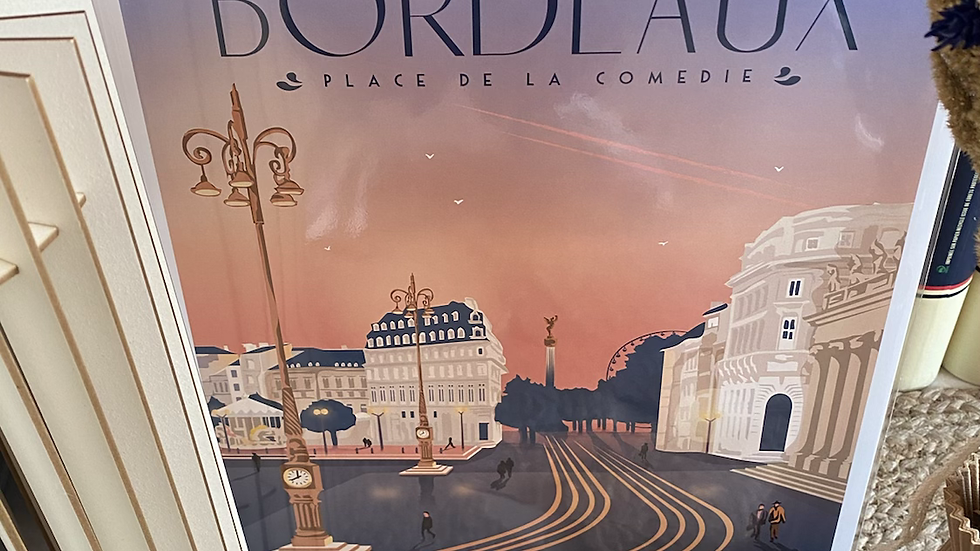 Affiche Bordeaux  Place de la Comédie