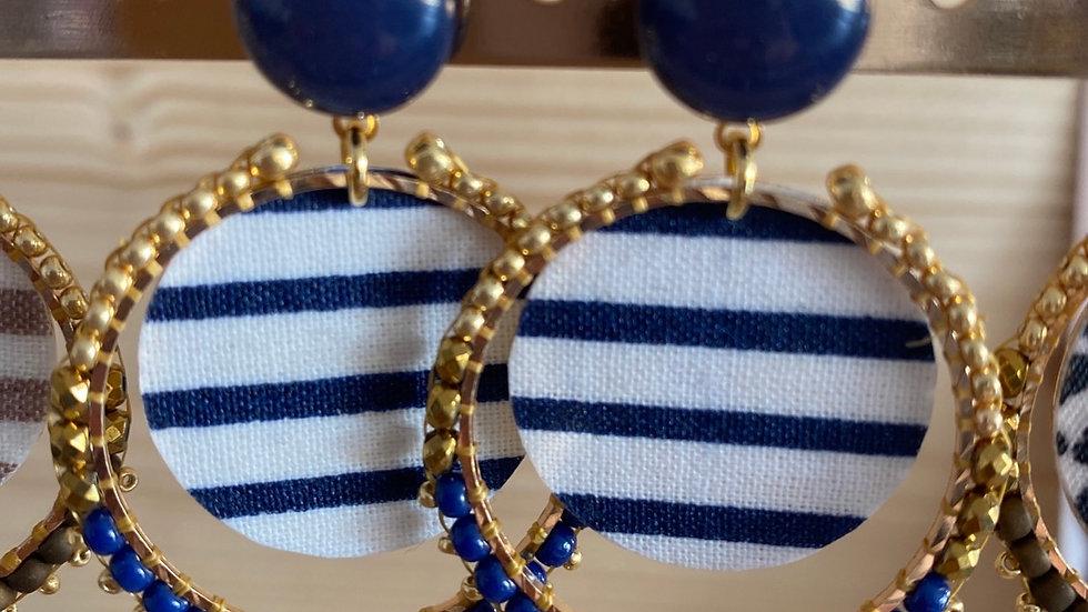 Boucles d'oreilles little pretty bleues