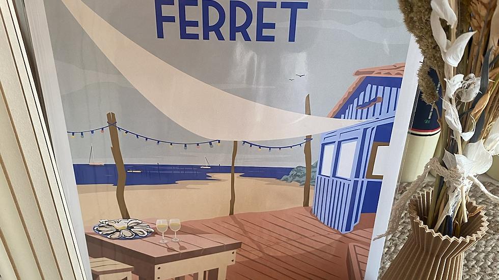 Affiche Cap Ferret Cabane