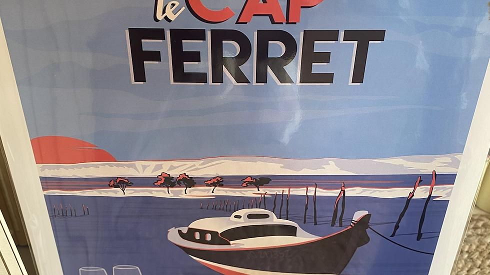 Affiche Cap Ferret Pinasse