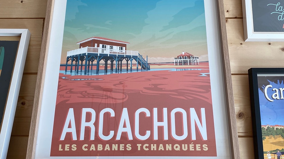 Affiche Cabanes Tchanquees