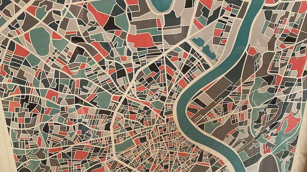 Affiche Plan Bordeaux