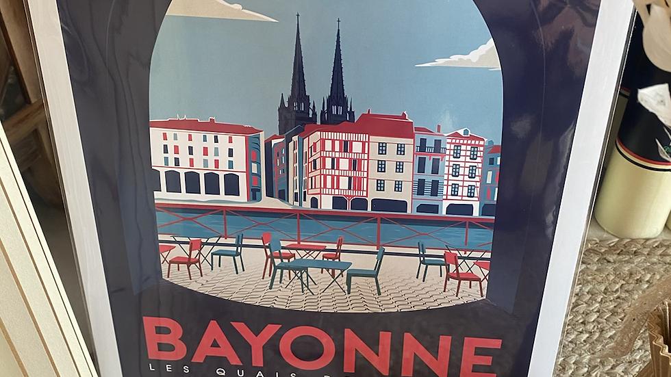 Affiche Bayonne Quais de la Nive