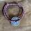 Thumbnail:  Bracelet cordon pièce en argent vieilli