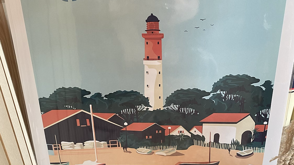 Affiche Cap Ferret Phare