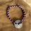 Thumbnail: Bracelet cordon pièce argent vieilli